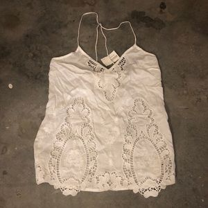 White lace tank top — never worn